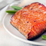 Miso Glazed Salmon with Fresh Snap Peas…In Under 30 Minutes!